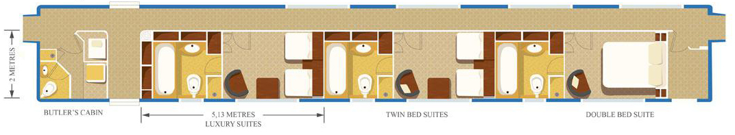 Blue Train Luxury Suite Layout